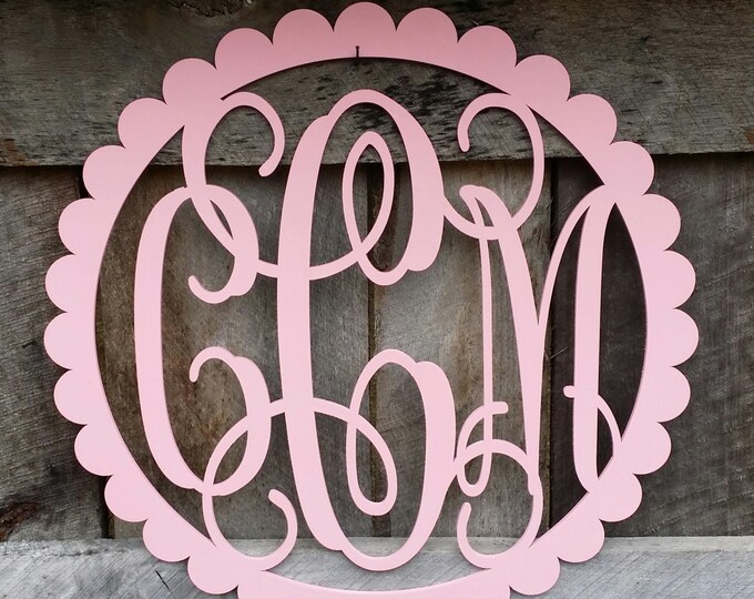 "24"" Painted Wooden Monogram - Monogram Door Hanger - Nursery Wall Hanging - Wedding Monogram - Monogram Gift"