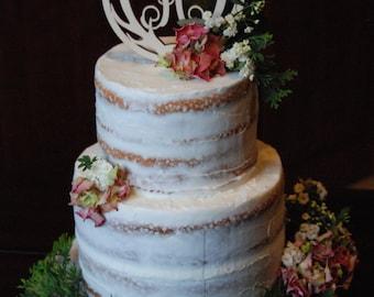 Antler Cake Topper - Personalized Antler Cake Topper - Initial Cake Topper