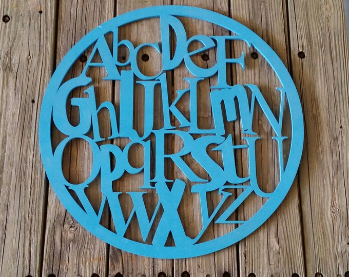 ABC Sign - Wooden Alphabet - Painted Letters
