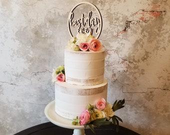Best Day Ever Cake Topper - Wooden Cake Topper - Wedding Cake Topper - Gift - Wedding Decor - Shower Decor - Party