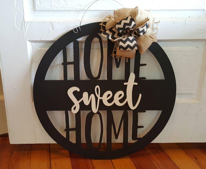 Home Sweet Home Door Hanger  Wreath  Housewarming Gift  image 0