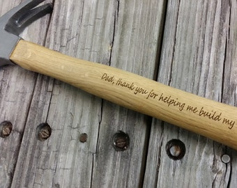 Father's Day Gift for Dad - Gift for Dad - Engraved Wooden Handled Hammer - Personalized Hammer - Dad Gift - Gift for Him - 052318