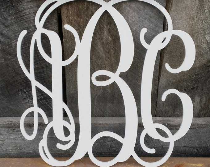 "24"" Painted Wooden Monogram - Monogram Door Hanger - Nursery Wall Hanging - Wedding Monogram - Monogram Gift"