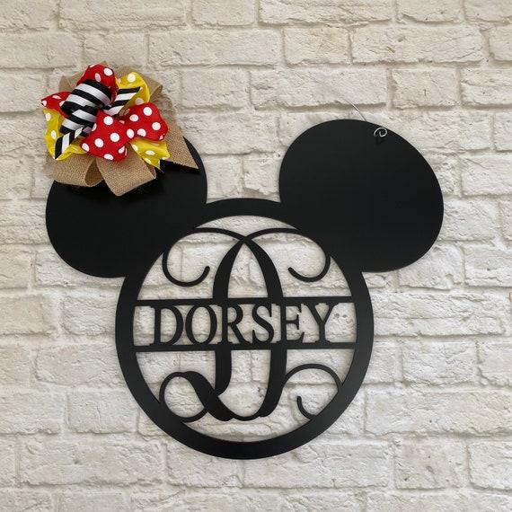 Mickey Mouse Door Hanger Disney Door Hanger Wreath Etsy
