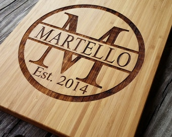 Custom Cutting Board - Personalized Cutting Board - Bamboo Cutting Board - Monogram Cutting Board - Monogram Home Decor - Wedding Gift