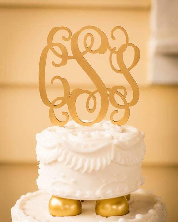 Wedding Cake Topper Monogram Cake Topper Bride\'s Cake | Etsy