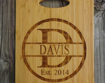 Personalized Bamboo Cutting Board - Engraved Cutting Board - Monogram Cutting Board - Wedding Gift - Anniversary Gift - Housewarming Gift