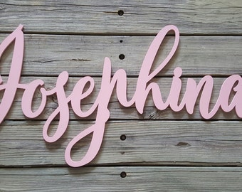 Painted Wooden Name - Painted Wooden Word - Nursery Wall Hanging - Word Wall Hanging - Wooden Word -  Family Name Wall Hanging