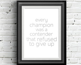 0164 Typographic Inspirational quote Print Wall Art Print Multiple Sizes