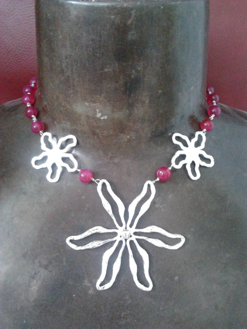 large daisy necklace statement choker necklace