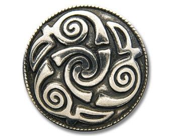 Concho / Screw Back Rivet Celtic Spiral (T)