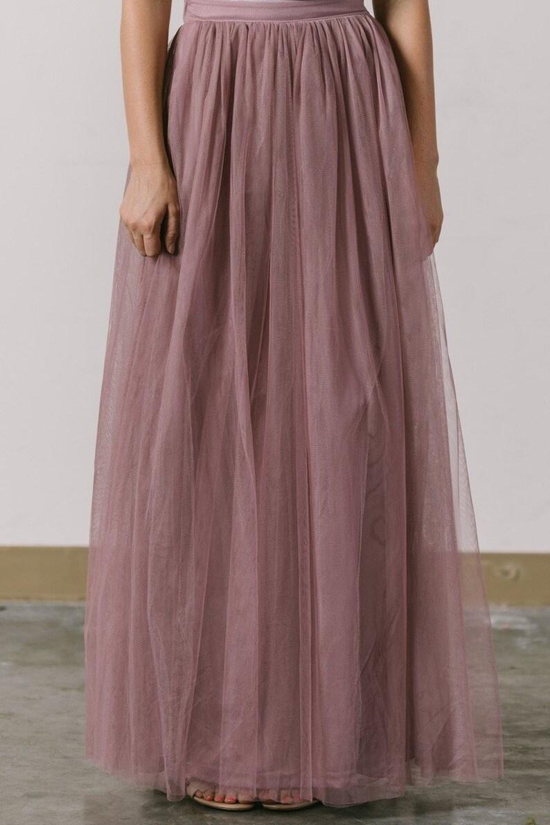 29c989d87f Tulle Maxi Skirt/ Net Long Skirt/ Prom Skirt/ Brides Maid | Etsy