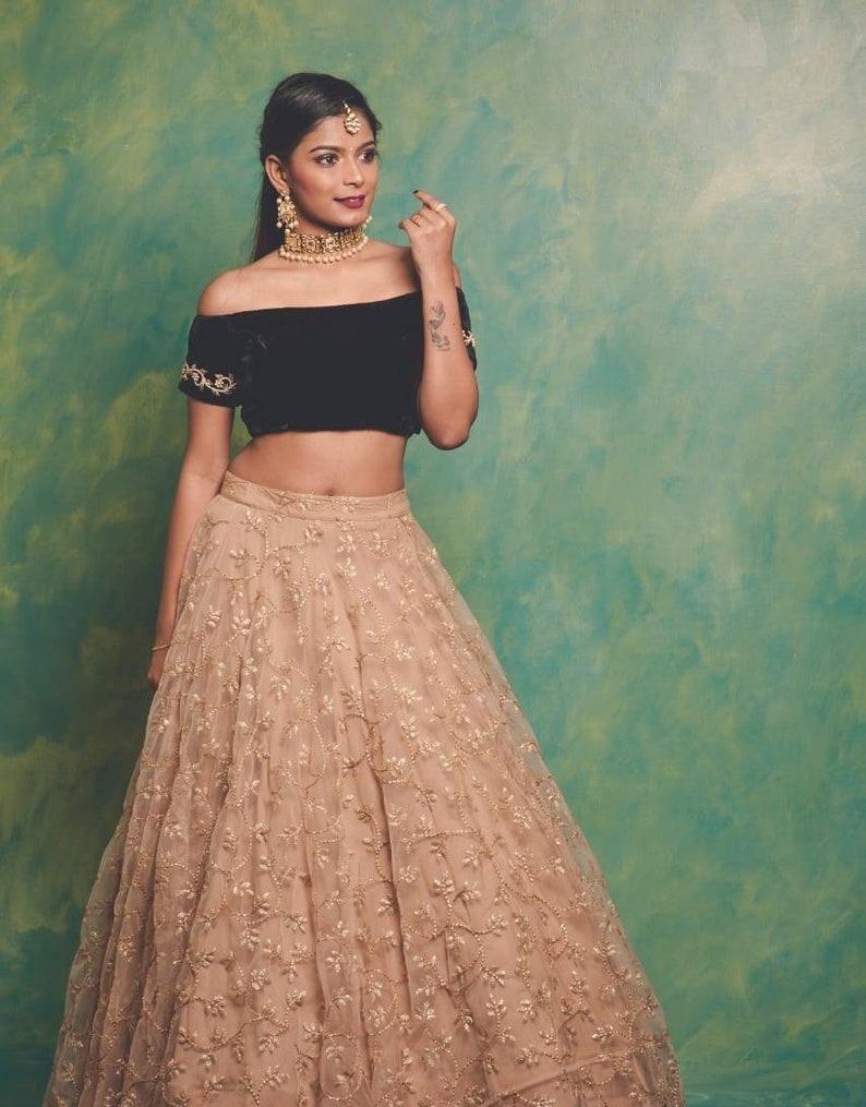 3ed7b3e85 Designer Skirt and Crop top/Designer Lehanga & blouse/ Prom | Etsy
