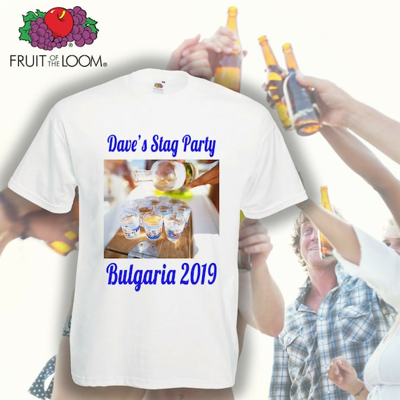 Personalised T-shirt Custom Photo Your Image Printed Stag Hen Party tee shirt