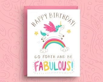 Unicorn Card, Birthday Card, Funny Unicorn Card, Funny Birthday Card, Birthday Card For Her, Birthday Card For Friend