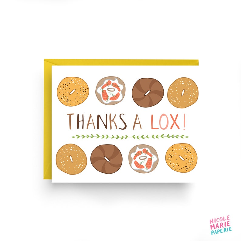 Bagel Card Thank You Card image 0
