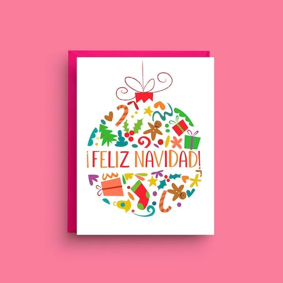 Feliz navidad card merry christmas card spanish christmas etsy image 0 m4hsunfo