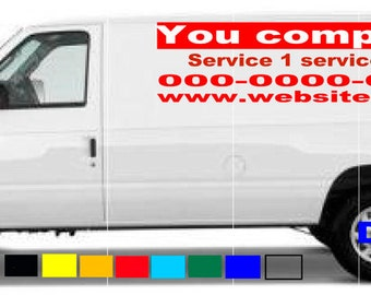 0b10a861a86 van truck custom vinyl lettering business signs vehicles decals stickers  graphics Quantity 2