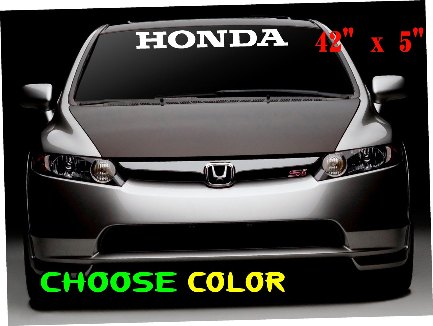 Honda logo windshield car decal vinyl sticker race honda etsy