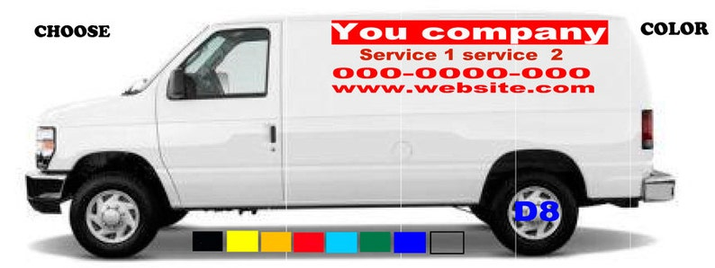 d8106786aa8 Van truck custom vinyl lettering business signs vehicles