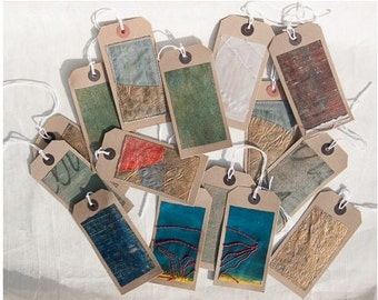 Unique Hand Embroidered/Painted Gift Tags