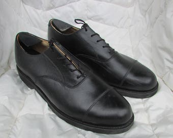 Military Dress Shoes Size 10.5 Capped Toe Leather Dress Shoes 83d260d9c