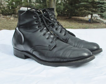 Military Dress Boots Mens 11.5 Combat Boots Marching Boots Parade Boots Army  Boots Made in Canada Excellent Vintage Condition Leather Boots