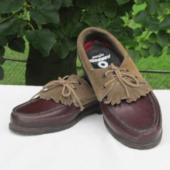 Deck Shoes Size 8 Leather Boat Duck