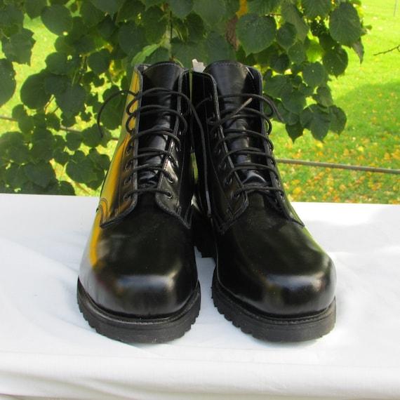 cadets bottes cuir de Canada 5 Marche de au de Taille en militaire BOULET parade Bottes forage par 5 Bottes Bottes ou noir Fabriquées combat vmnO80wN