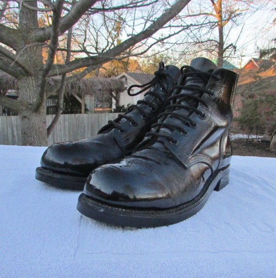 combat boots size 8 military boots marching or parade boots etsy