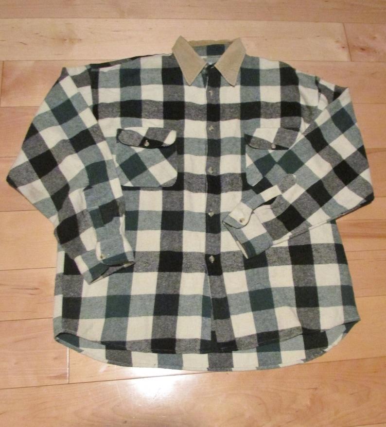 Plaid Shirt 100/% Cotton Large Cotton Camping Shirt Hiking Shirt Casual Shirt Extra Large Outdoors Shirt Lumberjack Shirt