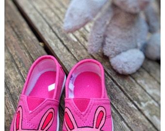 Coniglietto rosa brillante scarpe di tela scarpe 07943dec605