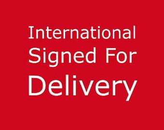 Postage upgrade - International Signed For