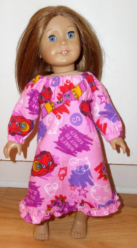"""Pink Piggie Nightgown Pajamas Fits 18/"""" American Girl Doll Clothes"""