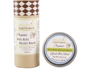 Bug Bite Relief Balm| After Bite | Insect Bite-Mosquito, No See Um, Fleas, Ticks, Bed Bugs, Fire Ants, Spider Bites | Organic | Whole Family