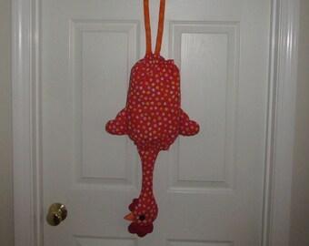 Chicken BagBag/Red-Orange Floral