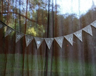 BABY SHOWER Banner | BURLAP Baby Shower Banner | Rustic Baby Shower | Baby Shower Decor | Baby Shower | Rustic Shower Decor | Custom Banners