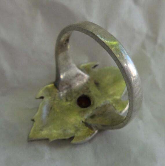 Garnet Ring, Vintage Garnet Ring, Garnet and Marc… - image 3