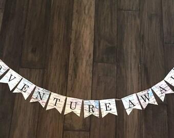 Little Adventure Awaits Banner, Little Adventure Awaits, Small Adventure Banner, Travel Theme Banner, Adventure Awaits Sign