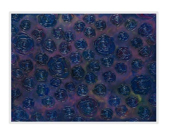 Archival Metallic Paper Reproduction Print - Acid Free Archival Mat in White - Metallic Purple, Blue, Navy and other Jewel Tones