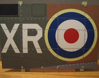 Aircraft Nose Art panel RAF Spitfire WWII