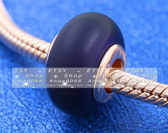 2021 Pre Autumn Release Rose Rose™ Matte Purple Murano Glass Charm Fits All European DIY Bracelets Necklaces