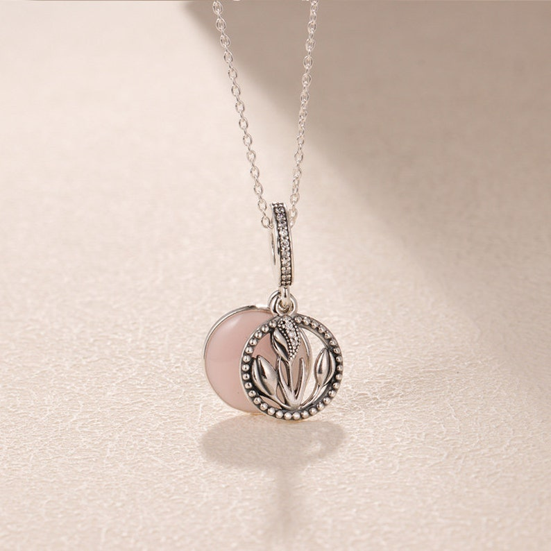 2019 Valentine Release 925 Sterling Silver Bead Path to Love Pendant Charm With Pink Enamel CZ Fits All European DIY Bracelet Necklaces