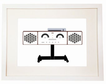 Brionvega - You Can Include White Wood Frame - RR126 Stereo Radio-Fonografo Hi-Fi Dual 1214 design Achille Castiglioni (1965).