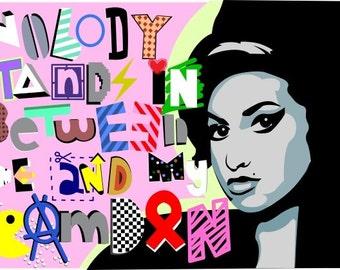 Amy Jade Winehouse Best British Female Artist Restoring Camden Graffiti