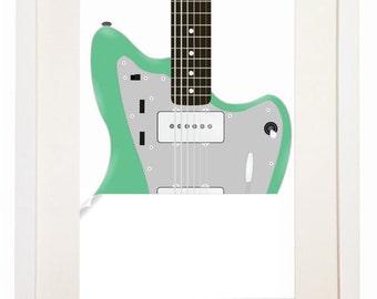 Fender Jazzmaster - You Can Include White Wood Frame - Vintage Electric Guitar DJ Hero
