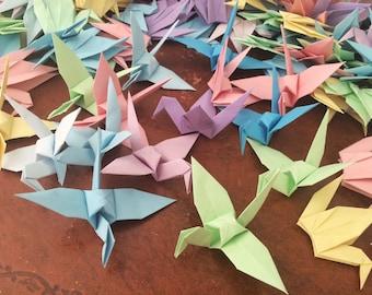 Origami Paper Cranes 9cm X 250 Pastel Colour Mix