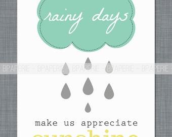Rainy Days, Art Print, Wall Art
