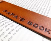 Personalized Name Leather Bookmark - Custom Letters - Handtooled Leather Gift - Anniversary - Grandparent Custom Present