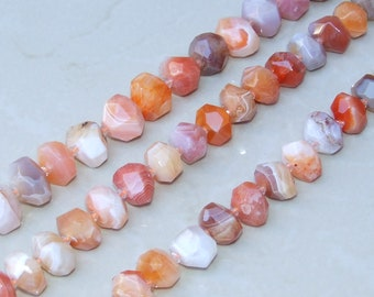 Not Treated in anyway AAA quality For jewelry making Natural Blossom Agate 20x20mm Flat Faceted Square Full Strand 16 inches